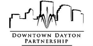 Greyscale logo for Downtown Dayton Partnership