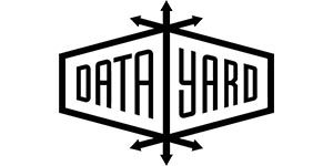 Black and white logo for Datayard