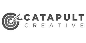 Greyscale logo for Catapult Creative