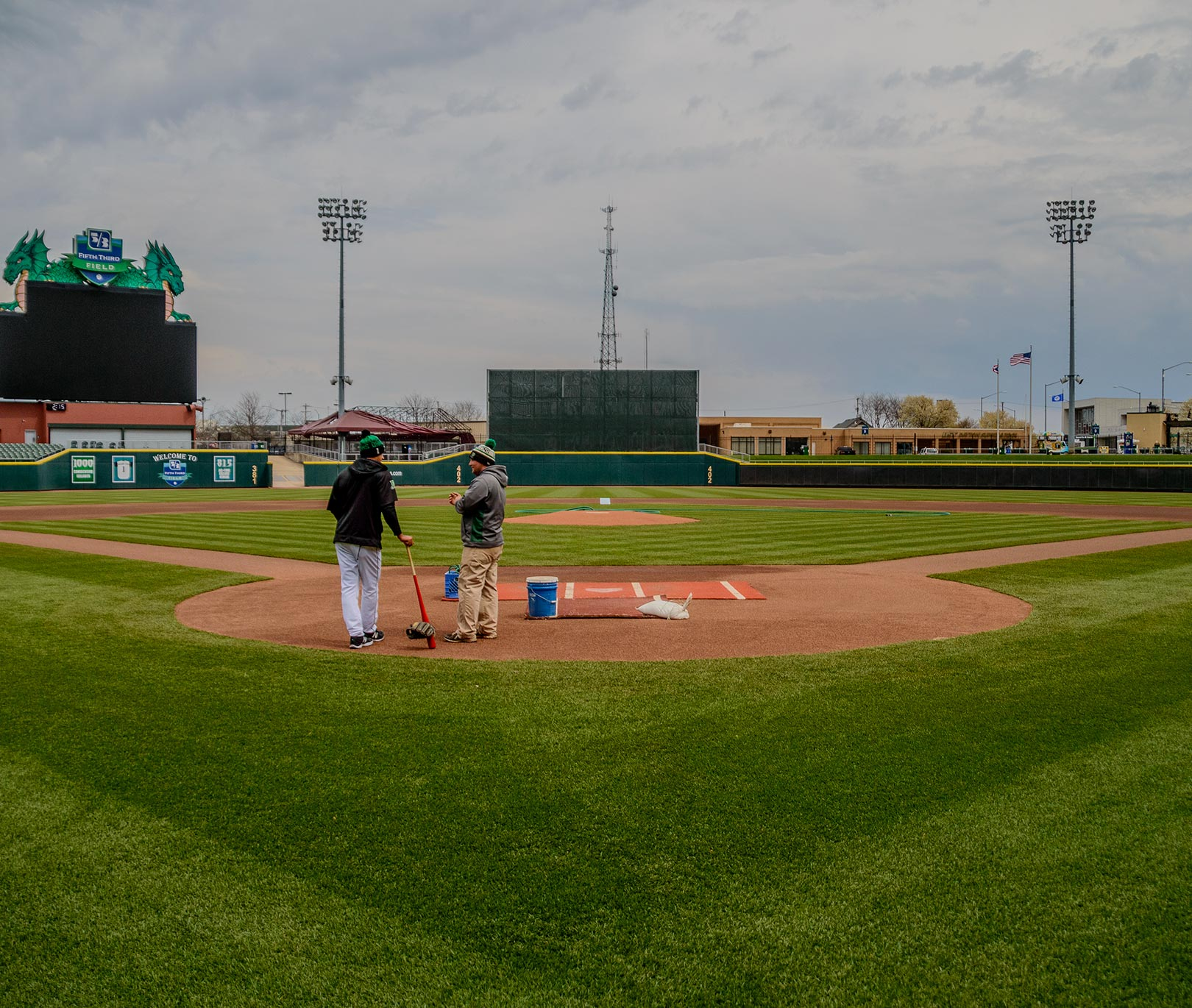 View from behind home plate at Fifth Third Field