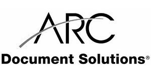 black and white logo for ARC Document Solutions