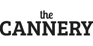 black and white logo for the Cannery